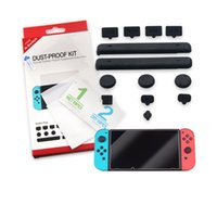 Wholesale nintendo game accessories for sale - Group buy Dust proof Rubber Plug Thumbstick Cover Accessories Fit for Switch Game Tempered Glass Screen Protector for Switch