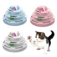 Wholesale crazy products resale online - Newest Layers Funny Pet Toys Cat Crazy Ball Disk Interactive Amusement Plate Play Disc Anti Slip Turntable Cat Toy Product