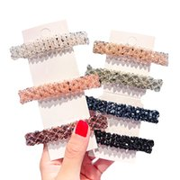 Wholesale black rhinestone crystal barrette resale online - New Fashion Fully Crystal Hair Clips For Women Girls Concise Shinning Rhinestone Hairpins Barrette Hair Accessories