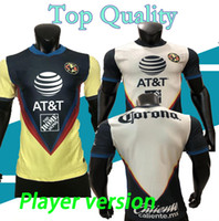 Wholesale mexico women home jersey resale online - Player version G Dos Santos home America Yellow jersey soccer R SAMBUEZA P AGUILAR away Mexico club Football Shirt WOMEN