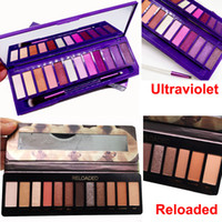 Wholesale dhl shiping for sale - Group buy New Ultraviolet Colors Eye shadow Palette Reloaded Eyeshadow Palette With Brush Makeup NUDE Matte shimmer Eyeshadow DHL free shiping