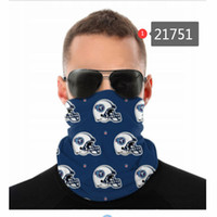 Wholesale wind motorcycle for sale - Group buy Football Designer Seamless Bandana for Rave Face Mask Dust Wind UV Sun Neck Gaiter Tube Headwear Motorcycle Cycling Riding Running Headbands