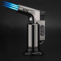 Wholesale Kitchen Outdoor BBQ Lighter Triple Torch Turbo Pipe Gas Jet Lighters Butane Cigarette C Spray Gun Cigar Windproof Fire