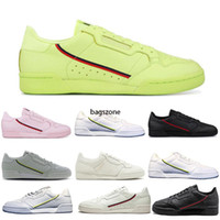Wholesale mens trainers online resale online - Powerphase Calabasas Continental Casual Shoes Triple White Black Pink Yellow Women Mens Trainer Outdoor Sports Sneakers Sale Online