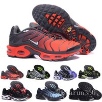 Wholesale womens discount shoes resale online - Discount Womens Sneakers Classic Tn Women Running Shoes Black Red White Sports Trainer Woman Surface Breathable Casual Shoes HIL