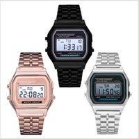 Wholesale marks electronic for sale - Group buy Ultra Thin with No Mark Sports Childrens Electronic Metal Watch Multi Function Luminous Alarm Clock Steel Belt Watch