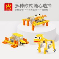 Wholesale block animals toys resale online - Interesting animal machinery series of building blocks small particles creative puzzle blocks boys and girls gift assembly children s toys