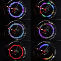 ingrosso accessori per bici a caldo-Brillante 32LED bicicletta luce della rotella 30 Picture Hot Wheels Warning bicicletta impermeabile Luce Spoke luci Mountain Bike Accessori