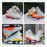 Wholesale baby sneakers lace up for sale - Group buy With Box s Baby Toddlers Basketball Shoes GS Playground White orang Court Purple Orange Infant kids designer sports sneaker size