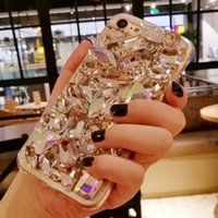 Wholesale phone gems for sale - Group buy Suitable for iphone pro max luxury full diamond gem crystal phone case