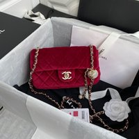 Wholesale strap can resale online - 7A high end custom quality Classic lady crossbody bag the latest velvet drill ball can adjust the length of shoulder strap