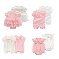 Wholesale birthday clothes for baby boy for sale - Group buy Princess Baby Girl Bodysuits Summer Style Bodysuit for Toddlers Lace Newborn st Birthday Party Clothes Twin clothing