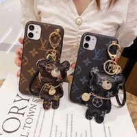 Wholesale Brand designer with fashon bear ornament phone cases for iphone Pro xs max xs xr plus plus High end
