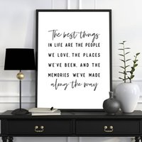 Wholesale best seascape oil paintings resale online - The Best Things In Life Inspirational Quote Print Black White Picture Friend Gift Wall Art Canvas Painting Nordic Poster Decor