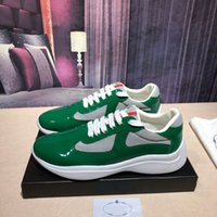 Wholesale mens coach sneakers for sale - Group buy 2020 luxurious Men sneakers designer Patent leather and fabric sneakers Sole inlay casual shoes mens Retro coach shoes With Box colour h8