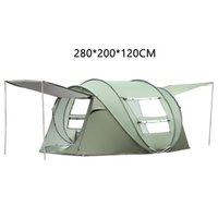 Wholesale 6 person tent for sale - Group buy Throw Up Tent Person Outdoor Automatic Tents Double Layers Large Family Tent Waterproof Camping Hiking