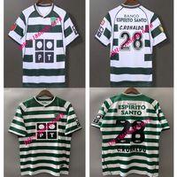 Wholesale ronaldo top shorts resale online - 03 Top Ronaldo Sporting Clube de Soccer Jersey Lisbon Ronaldo Soccer Shirt Custom short sleeve football uniform