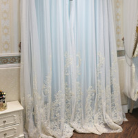Wholesale 96 curtains resale online - Jinxiu yarn European bedroom simple curtain sheer curtains gauze curtain partition balcony yarn shading decoration