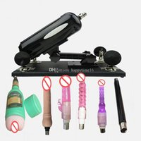 Wholesale auto sex machines for sale - Group buy 2019 New Automatic Retractable Sex Machine Auto Adjustable Speed Pumping Gun Updated Love Machine with Beer Masturbaiton Cup dildos