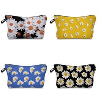 designer envelope clutch bags 2021 - 3D Digital Daisy Printing Clutch Bag Waterproof Home Furnishing Travel Ladies Handbags Dumpling Envelope Wash Storage Bags Customized 5XS B2