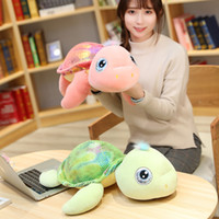 Wholesale big eye turtle plush toy for sale - Group buy Big Eyes tortoise Plush Toy Stuffed Glowing Turtle shell Stuffed sea Animals toys Soft Doll toys for Children Sleeping Pillow MX200716