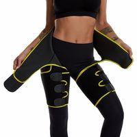 Plus Size Waist Trainer Belt Women High Waist BuLifter Leg Sweat Shaper Thigh Trimmers Adjustable Sauna Belt Hip Enhancer