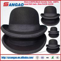 Wholesale trilby hat black for sale - Group buy wool felt bowler hats men or women party hat festival hat black trilby hat fashion