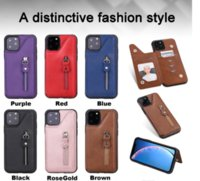 Wholesale iphone plus case wallet zipper online – custom Zipper PU Leather Wallet TPU Card Slot Back Cover Case For iPhone Pro Max XR XS Samsung S8 S9 Plus S10 G S10e Note A50