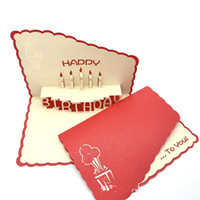 Wholesale free chinese new year cards for sale - Group buy Chinese Red Birthday Party Invitation Card Thanks Cards D Hollow Sculpture Design Birthday Party Supplies