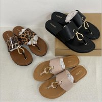 Wholesale soft thong flip flop slippers resale online - Hot sell European and American style Women s summer flip flops beach slippers soft Leather Francis Thong Sandals size