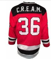 Wholesale Custom Men Youth women Vintage C R E A M CREAM Chambers Killer Bees DEVILS Hockey Jersey Size S XL or custom any name or number
