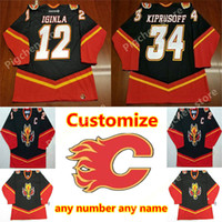 Wholesale iginla jersey for sale - Group buy Calgary Flames vintage Jerseys Iginla kiprusoff Fleury Mcdonald Gilmour custom any number any name Retro CCM Authentic hockey