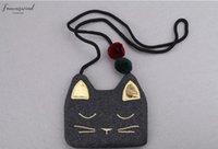 Wholesale cat fabric purse for sale - Group buy So Cute Children Pu Leather Cat Bag Kids Shoulder Messenger Bag Girl Shoulder Bag Casual Coin Mini Purses Toddler Wallet