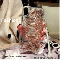 Wholesale perfumes case resale online - Fashion Perfume Bottle Case With Chain Lanyard Phone Case For Iphone plus X XR Xsmax Pro Samsung S10