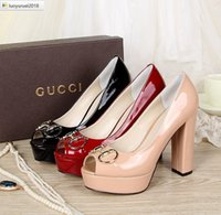 Wholesale long water pump resale online - 2 OTZ water table fish mouth thick Women High heels Sandals Slippers Mules Slides PUMPS SNEAKERS Dress SHOES