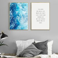 Wholesale ocean panel painting for sale - Group buy Ocean Waves Wall Art Poster And Prints For Living Room Nordic Decoration Blue Waves Canvas Painting Wall Pictures Home Decor