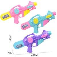 Wholesale sports pistol resale online - Kids Summer pull type Inflatable Squirt Toy Children Beach Water Gun Pistol Outdoor Fun Sport Birthday Children s Day Gift Y200728