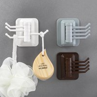 Wholesale cell phone traces resale online - KaHcN Rotary hook strong viscose towel storage rack hanger hanger household bathroom wall storage rack multi purpose punching free and trace