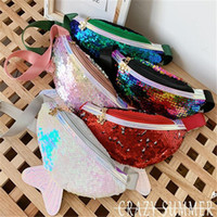 Wholesale kids messenger backpack for sale - Group buy Cute Mermaid Tail Sequins Fanny Pack Girls Kids Crossbody Bags Rainbow Sequined Chest Bag Purses Messenger Shoulder Bag Fashion Totes LY8032