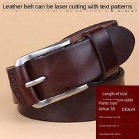 Wholesale private leather for sale - Group buy KZKC8 top layer cowhide genuine leather style laser carving Men s top layer cowhide Men s belt private belt genuine leather style laser car