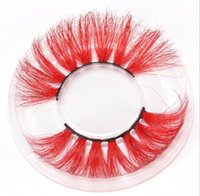 Wholesale natural colored hair for sale - Group buy 25mm colored D Mink false eyelashes style thick Eyelashes Luxury Colorful Natural Cosplay Imitated Mink thin eyelashes sets