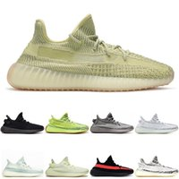 Wholesale mes running shoes resale online - Running Shoes for Men Womens Kanye West bred cream Static Cream white Bred Blue Tint Butter me