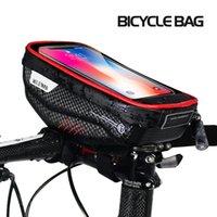 sacos para smartphones  venda por atacado-Bicycle Bike Handlebar Bag Waterproof Support Smartphone Phone Pouch Cycling Accessories Frame Top Tube Mountain Road Hard Case MX200717