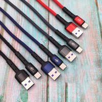 Wholesale type c android charger online – 2 A Charging Data aliminum shell Nylon Braid Type C Micro USB Cable Cord For Android Samsung Huawei Charger Sync Cables M