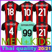 Wholesale ac milan soccer jerseys for sale - Group buy 20 AC Milan soccer jersey IBRAHIMOVIC PAQUETA BENNACER REBIC Men Kids kit MAILLOTS DE FOOT ROMAGNOLI CALHANOGLU football shirt