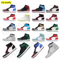 Wholesale red basketball high top shoes for sale - Group buy Top Quality Mens basketball shoes high OG Obsidian UNC Red Travis Scotts shoes jumpman men women sports sneaker