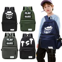 Wholesale primary books resale online - men s ins fashion trend casual simple oxford cloth Primary Oxford cloth Backpack backpack School students Korean large capacity Book