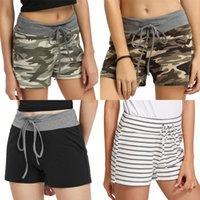 Wholesale wide elastic for waistbands resale online - Black Shorts For Women Summer Elastic Waist Diamond Buckle Waistband Waist Wide Leg Flower Shorts Womens Clothes Nancylim