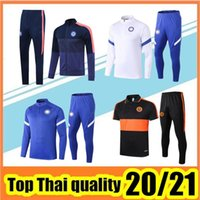 Wholesale long sleeve soccer jersey kit for sale - Group buy 2020 adult full jacket long sleeve tracksuits football jersey training shirt Costa soccer kits
