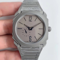 Wholesale glass cuts resale online - Sapphire crystal glass Titanium dial faceted cut black rhodium plated pointer The diameter of mm Octagonal bottom cover drawing process